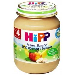 HIPP Био пюре Ябълки и банани 125g