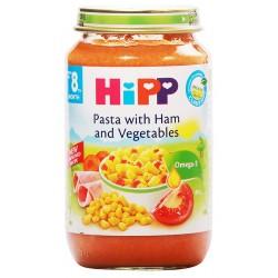 Хип Био пюре шунка, зеленчуци, макарони 0,220