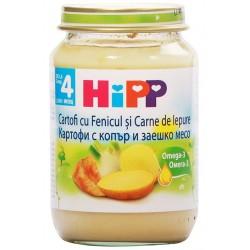 HIPP пюре Картофи с копър и заешко 190g