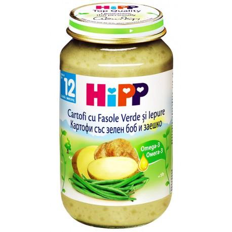 Хип пюре картофи със зелен боб и заешко 0.220