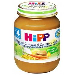 Хип Био пюре зеленчуци с телешко месо 0.220