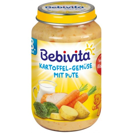 Bebivita пюре картофи и зеленчуци с пуешко месо 0,220
