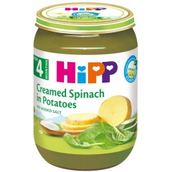 HIPP Био пюре Спанак със сметана и картофи 190g
