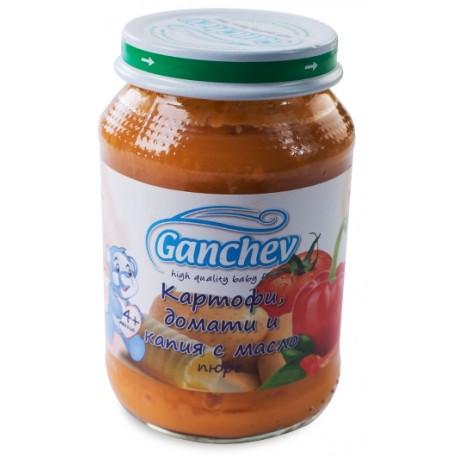 Ганчев пюре картофи,домати капия с масло 0,190
