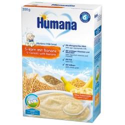 Млечна каша 5 зърна Банан Humana 200g