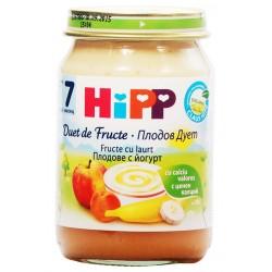 HIPP Био пюре Плодов дует Йогурт с плодове 160g