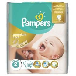 Пелени Pampers Premium Care Мини 3-6kg 80бр. Размер 2