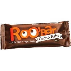 БИО СУРОВ БАР Какаови зърна и бадеми 30g Roobar