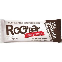 БИО СУРОВ ПРОТЕИНОВ ДЕСЕРТ Шоколадови парченца 60g Roobar