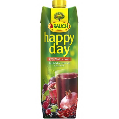 HAPPY DAY Сок Червен мултивитамин 100% 1l