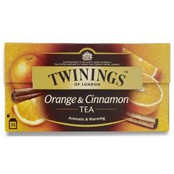 Черен чай с портокал и канела Twinings 25x2g