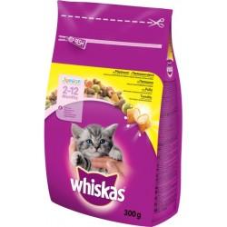 Суха храна за котки Whiskas Junior 300g Пилешко