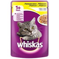 Храна за котки Whiskas пауч 100g Птиче месо