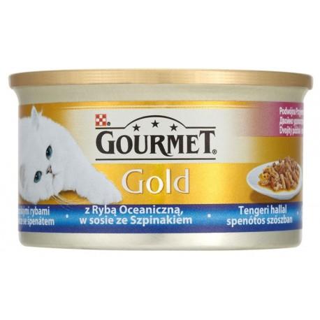 Храна за котки GOURMET GOLD РИБА И СПАНАК 85g