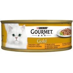 Храна за котки GOURMET GOLD ЗАЕК и ДРОБ 85g
