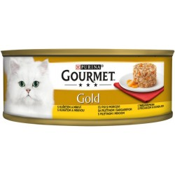 Храна за котки GOURMET GOLD Пиле и моркови 85g