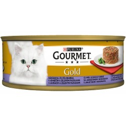 Храна за котки GOURMET GOLD Агнешко и зелен фасул 85g