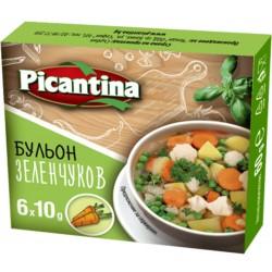БУЛЬОН PICANTINA ЗЕЛЕНЧУКОВ 6X10g
