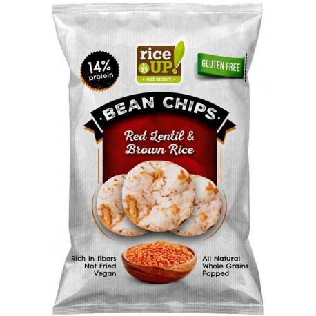 Оризов чипс Протеинов Червена леща RICE UP! 60g