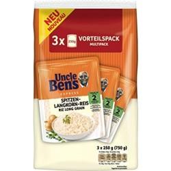 Ориз Дългозърнест в торбичка UNCLE BEN'S 3x250g