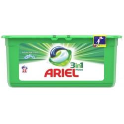 Ariel Гел капсули 3в1 Планинска пролет за бяло пране 28бр.