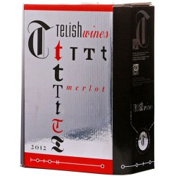 Червено вино Телиш Мерло 3l