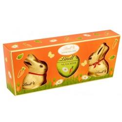 LINDT Дуо 2 Мини златни зайчета и сърце 45g