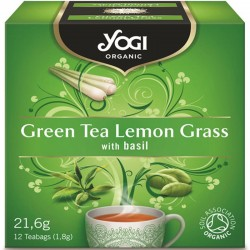 Био чай Зелен чай и Лимонена трава 12х1,8g YOGI TEA