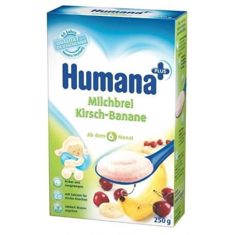 Млечна каша с череши и банани Хумана 0.250