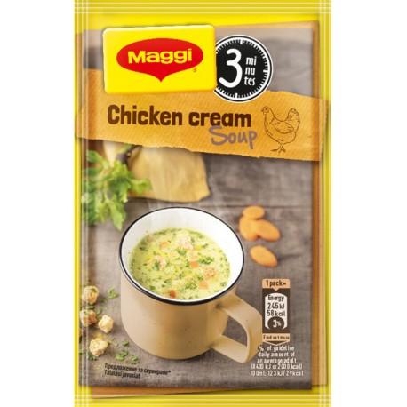 Инстантна пилешка крем супа с крутони Маги 0,016