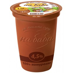 Кисело мляко на Баба 4,5% 380g