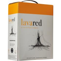 Червено вино LAVA Ничия земя Каберне и мерло 3l