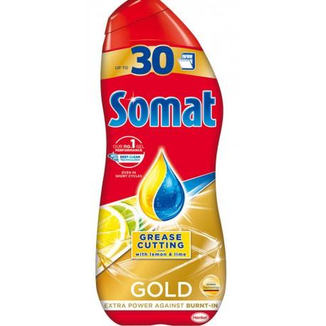 Гел SOMAT GOLD за съдомиялни машини Antigrease Lemon 540ml