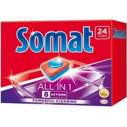 Таблетки за съдомиялна машина SOMAT ALL IN ONE 24бр.