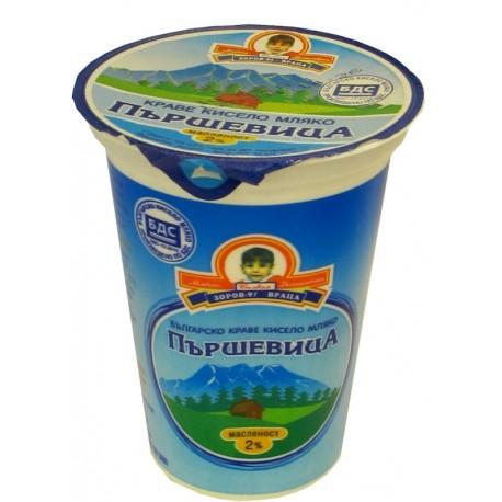 Кисело мляко Пършевица БДС 2% 400g