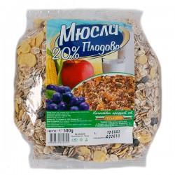 Мюсли Радиком 20% плод 500g