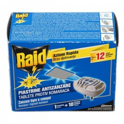 Изпарител против комари Raid +10бр. таблетки