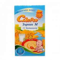 Каша Слънчо млечна Зърнин М 0.200 11 Витамина