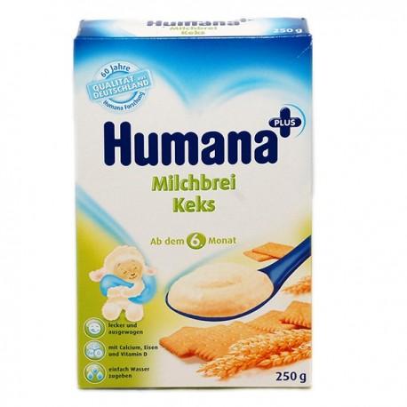 Млечна каша с маслени бисквити Хумана 0.250