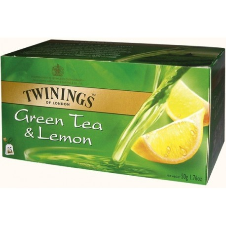 TWININGS Green Tea & Lemon 25