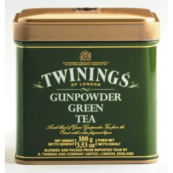 Зелен чай TWININGS Gunpowder Green Tea метална кутия 100g