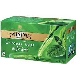 Зелен чай с мента TWININGS Green Tea Mint 25x2g