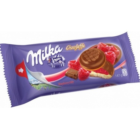 Бисквити Милка малина 147g