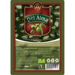 Mаслини зелени вакуум Del Alma 360g
