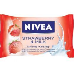 Сапун  Nivea Strawberry&Milk  90g