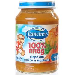 Ганчев пюре тиква и моркови 190g