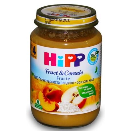 HIPP Био Пълнозърнеста плодово-оризова каша 190g
