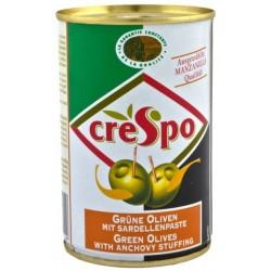 Маслини зелени с аншоа Crespo 300g